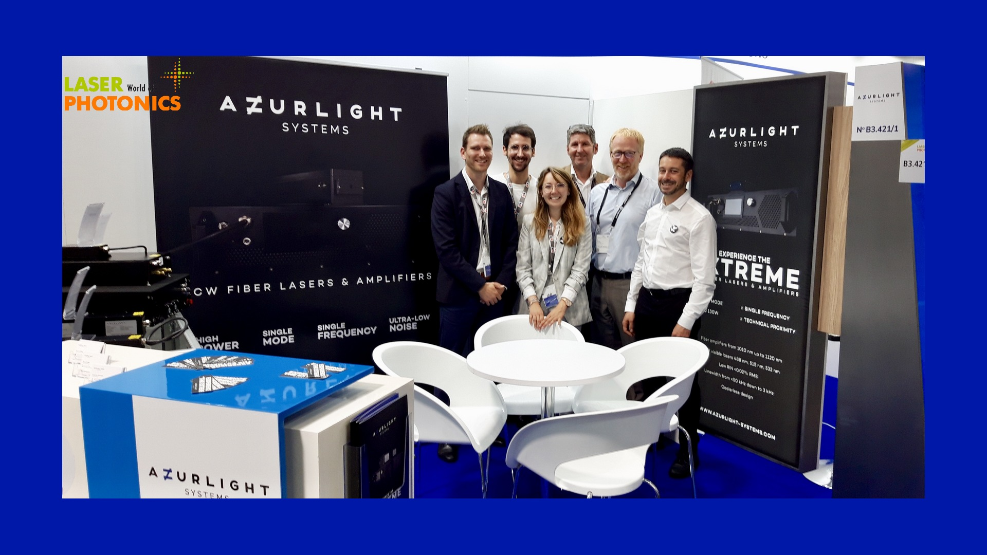 Photo Picture Azurlight Systems Staff Team Family present at Laser World of Photonics 2019 Munich