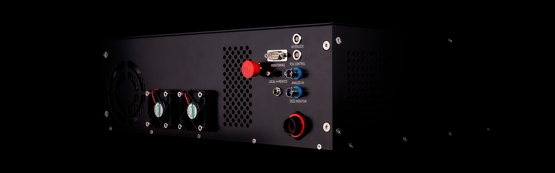 Back of the amplifier - Azurlight systems