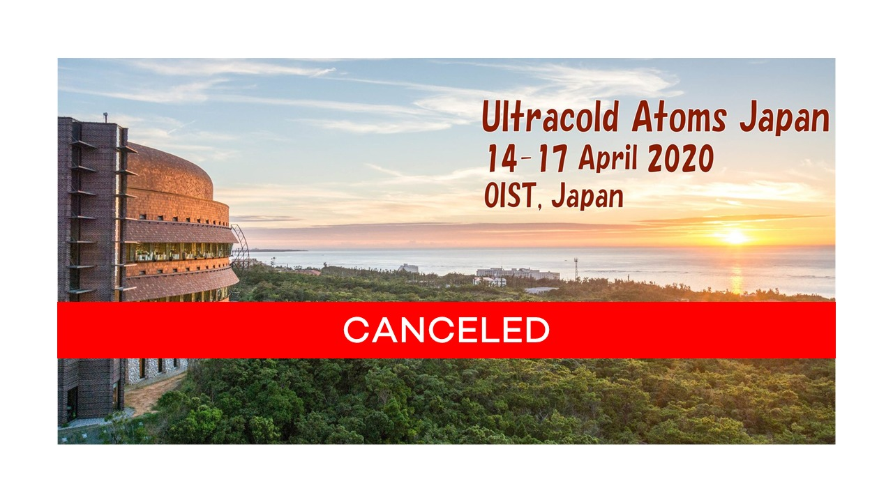 Ultracol atoms japan - april 2020 - Okinawa - OIST - sponsorship Azurlight Systems canceled